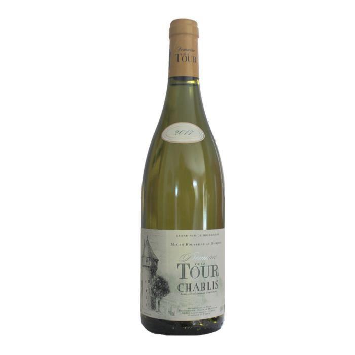 Chablis 2017 Domaine de la Tour -75 cl - Vin Blanc AOP de Bourgogne - Cépage Chardonnay