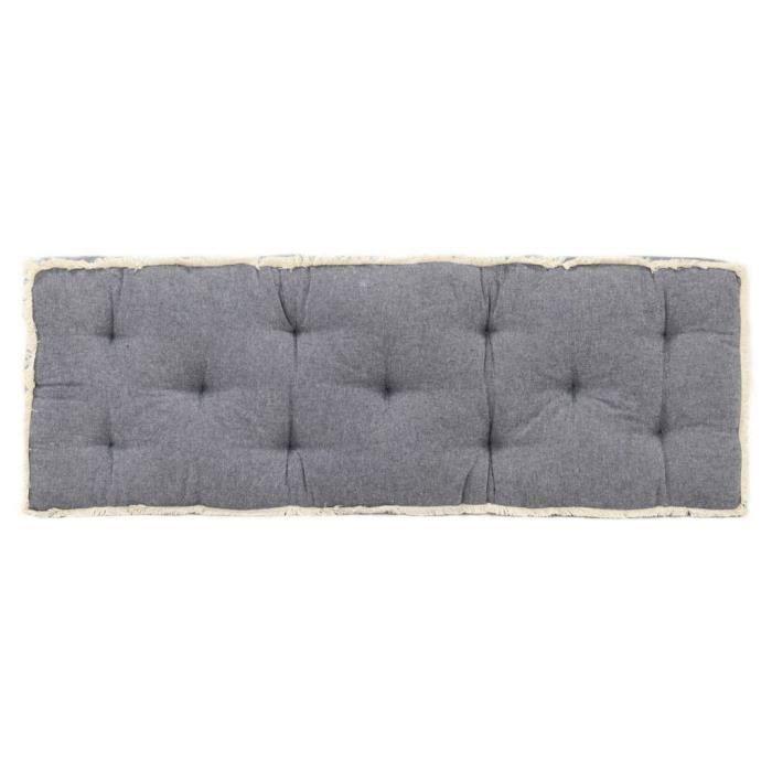 VIE2711Haut de gamme Coussin de canapé palette - Coussin extérieur Coussin de sol Grand Confort Galettes de chaise Bleu 120x40x7 cm