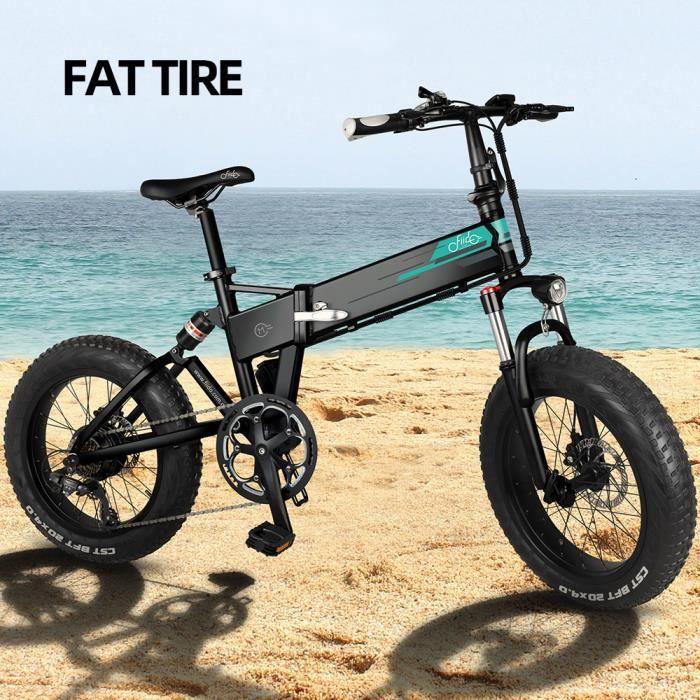 [Navire de Pologne] FIIDO M1 Vélo de Montagne électrique Pliable ,12.5 Ah Lithium Batterie,20- Roues Fat Tire