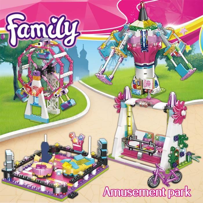 699 pièces Lego Friends Joy Park Carnival Joy Building Blocks Personnage Filles Jouets, Blocs de Construction pour Enfants