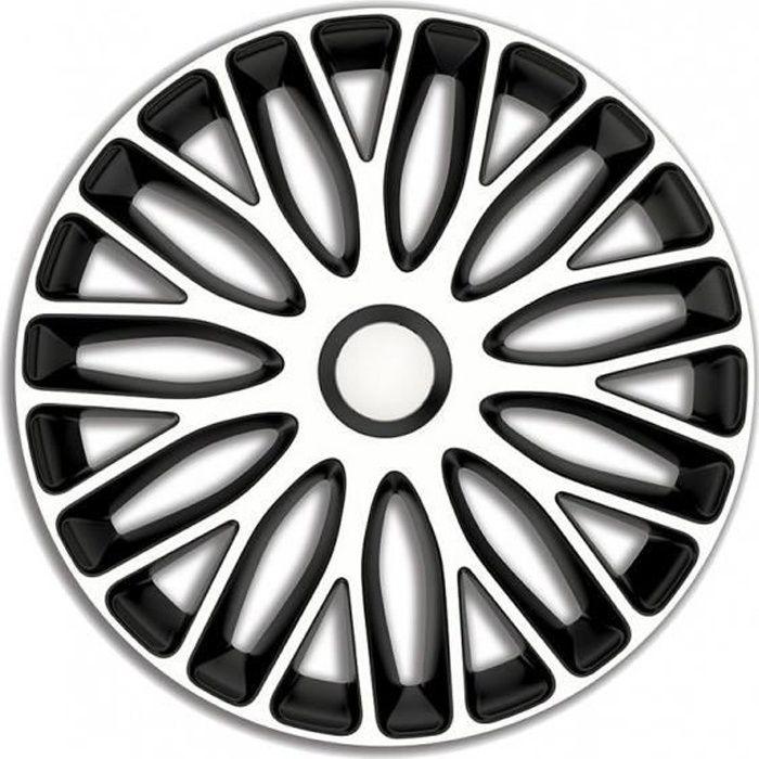 AutoStyle enjoliveurs Mugello 17 pouces ABS blanc/noir set de 4