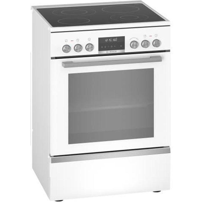 Bosch Serie 6 HKS79R220 Cuisinière pose libre largeur : 60 cm profondeur : 60 cm hauteur : 85 cm avec système auto-nettoyant…