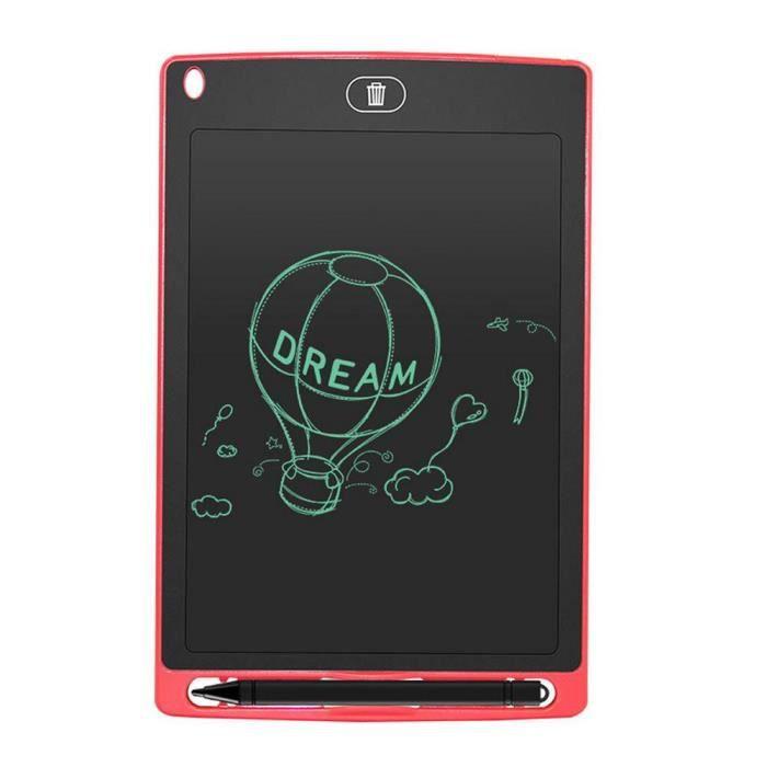 Leegoal 8.5 pouces Lcd Tablette d'écriture Dessin Graphique pour enfant Rouge