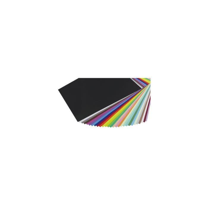 Le lot de 25 feuilles papier Cartador multicolores de Maildor de 50 x 65 cm est un support de dessin, de pliage, de découpage et de