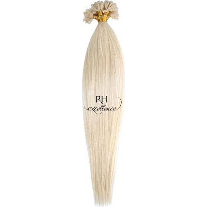 Extension Keratine - Blond très très clair N°60 - Lisse - Extension a chaud - Premium