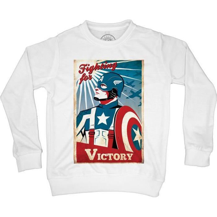 Sweat-Shirt enfant captain america capitaine victoire victory avengers hero
