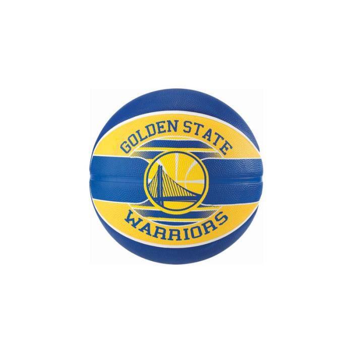 Ballon de Basketball exterieur Spalding NBA Golden State Warriors bleu