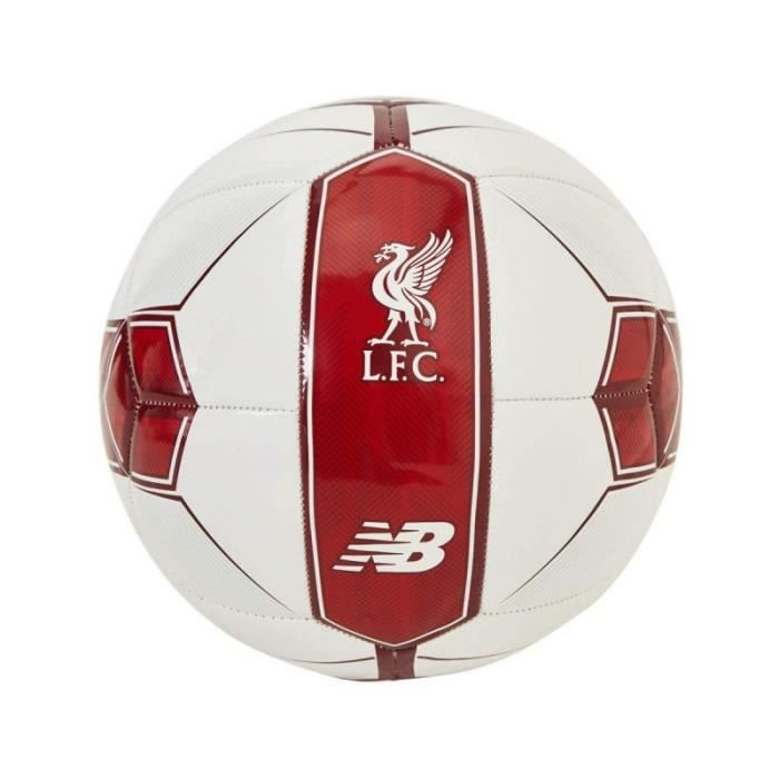 Ballon foot Liverpool Blanc et Bordeaux New Balance