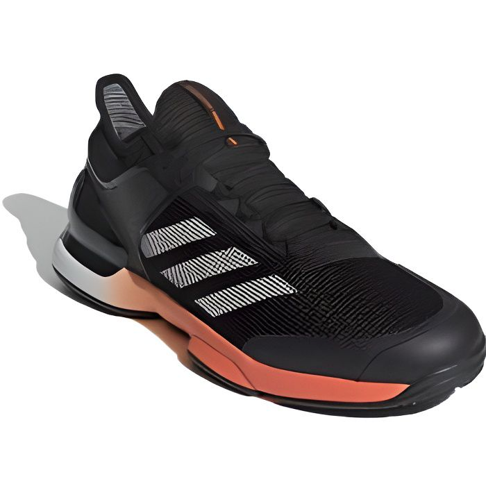Chaussures ADIDAS Homme Adizero Ubersonic 2.0 Clay Terre Battue Noir/Orange 2020