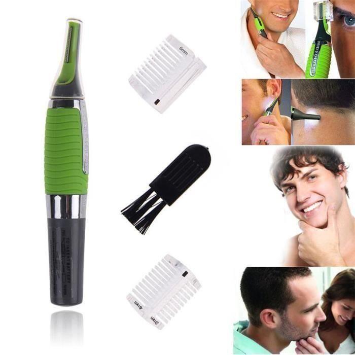 Rasoir Electrique Homme Mixte Rasoir nez et oreille Tondeuse Micro Touch W/ LED