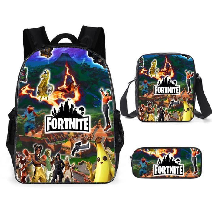 Fortnite Sacs D'école Cool Garçons Filles Anime Sac À Dos Scolaire Enfants Backpack A10