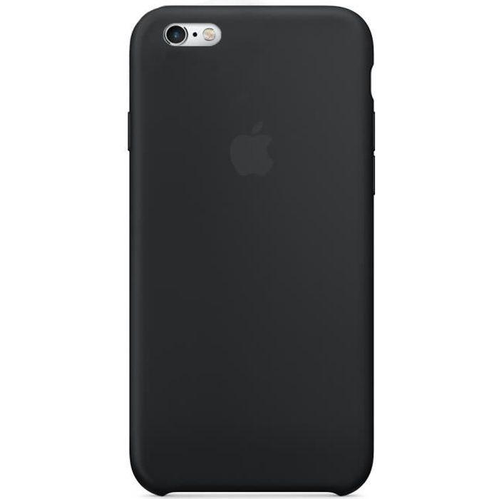 apple coque en silicone pour iphone 6 6s noir