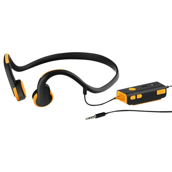 Bluetooth V4.1 Wired 3,5 Mm Casque Os Conduction De Bruit Étanche @yunsoel5216