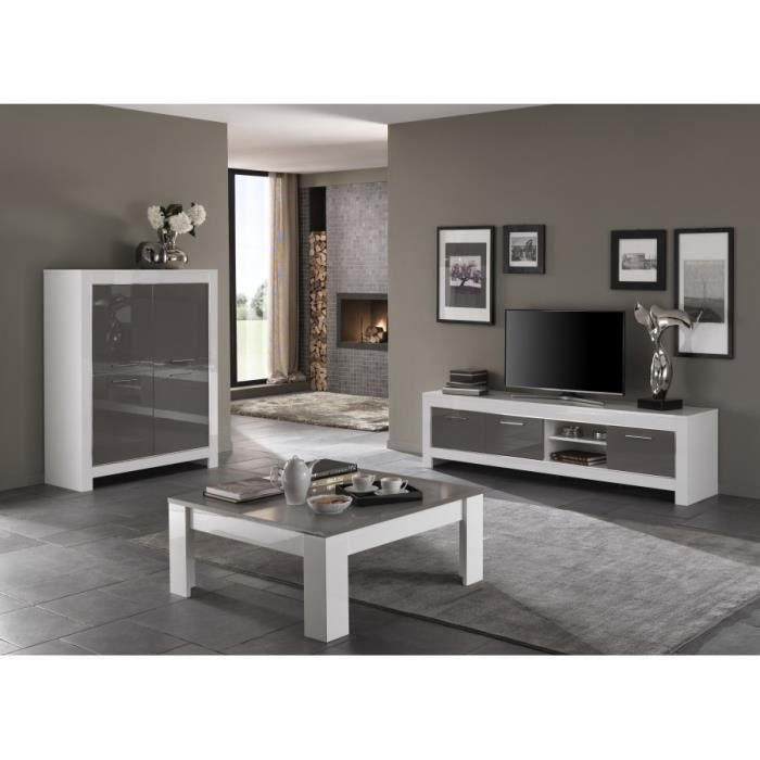 ensemble laqu blanc gris modena meuble tv 207 bar