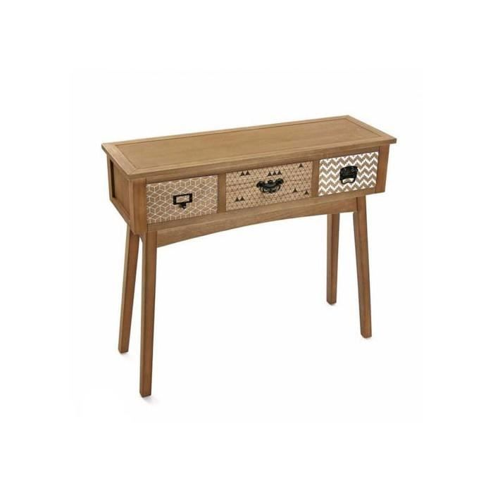 console pavi 3 tiroirs 90 cm achat vente console. Black Bedroom Furniture Sets. Home Design Ideas