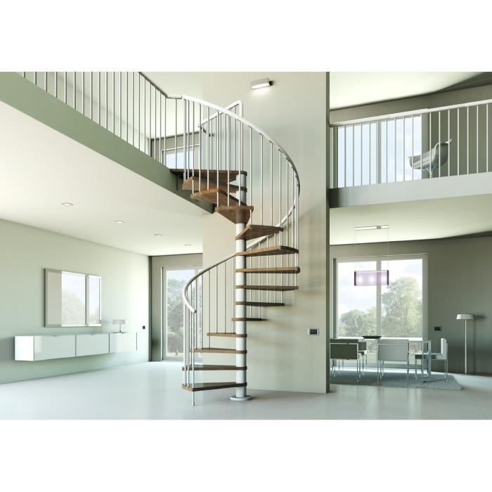 escalier h lico dal diam 130 cm ch ne blanc achat vente escalier escalier h lico dal diam 13. Black Bedroom Furniture Sets. Home Design Ideas