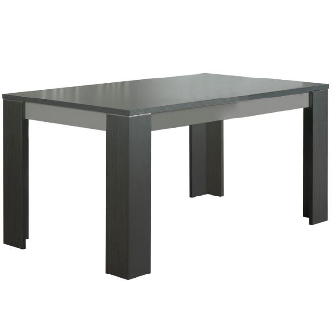 Table a manger laquee grise for Table de salle a manger gris laque