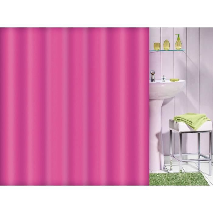 rideau de douche flashy uni couleur fushia achat vente rideau de douche cdiscount. Black Bedroom Furniture Sets. Home Design Ideas