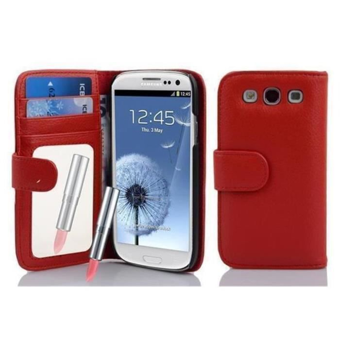Cadorabo Coque pour Samsung Galaxy S3 - S3 NEO , ROUGE CERISE ...
