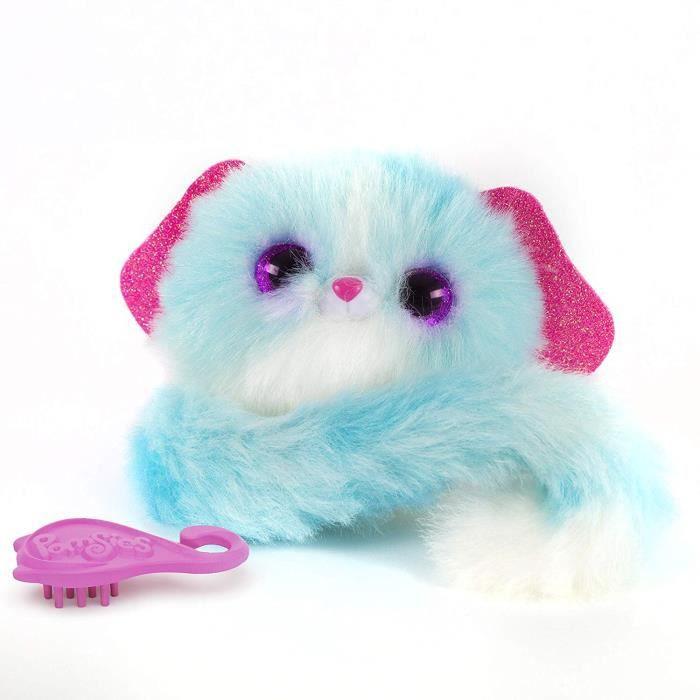 PELUCHE Bandai - Pomsies - Lulu - Chiot blanc et bleu - Pe