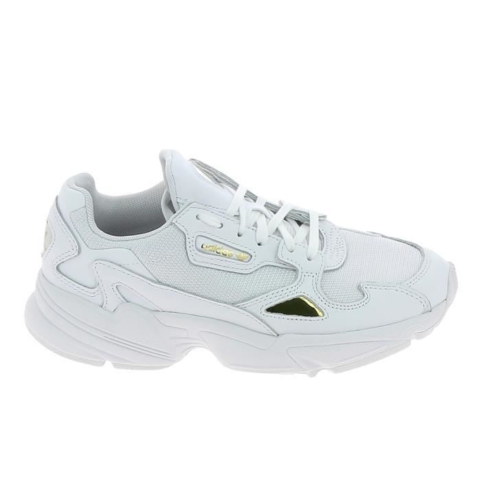 Basket -mode - Sneakers ADIDAS Falcon Blanc Or