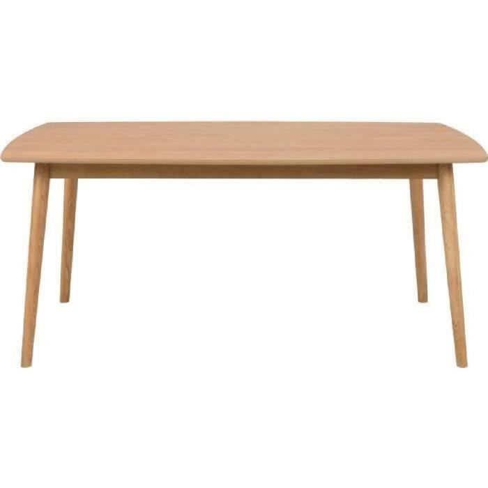 Nagano table manger 8 personnes scandinave placage ch ne for Table a manger 2 personnes