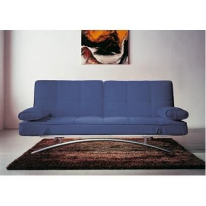 canap clic clac atlanta ii bleu achat vente canap sofa divan bois polyester m tal. Black Bedroom Furniture Sets. Home Design Ideas