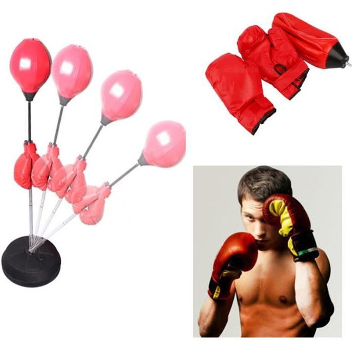 SAC DE FRAPPE Punch Sac Vitesse Punching Ball Boxe pour Adulte H