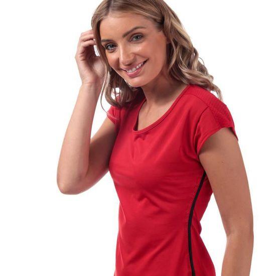 t-shirt adidas rouge femme