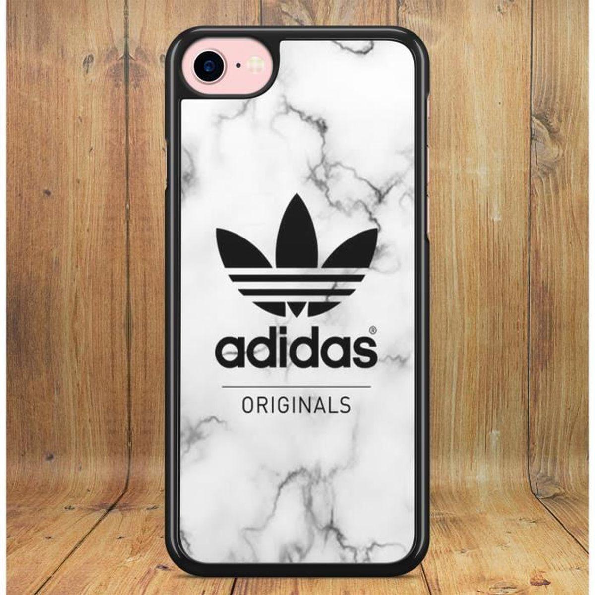 coque iphone 6 6s adidas effet marbre blanc noir l