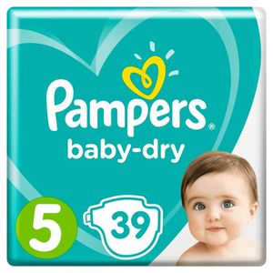 COUCHE Pampers Baby-Dry Taille 5, 11-16 kg - 39 Couches