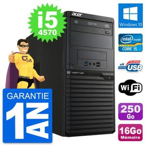 ORDI BUREAU RECONDITIONNÉ PC Tour Acer Veriton M2631 Intel i5-4570 RAM 16Go