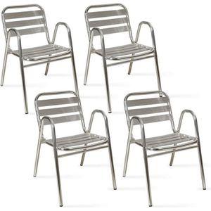 FAUTEUIL JARDIN  Fauteuil de jardin en alumium - chaise bistrot ave