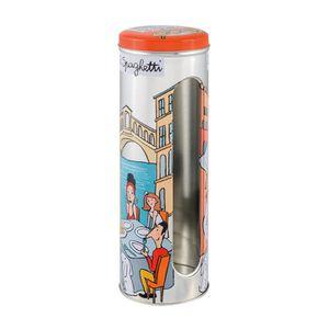BOITES DE CONSERVATION Boîte à Spaghetti VENISE en Métal Embossé Orange -