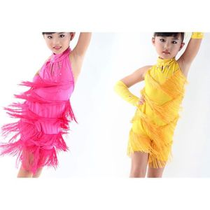 JUPE (jaune) Été fille danser jupe (100)