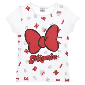 T-SHIRT Minnie Mouse, T Shirt Manches Courtes Fille