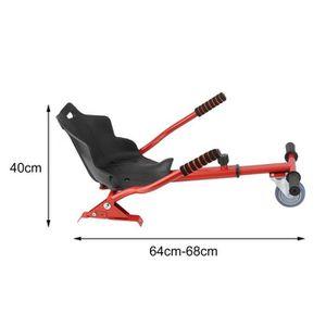 ACCESSOIRES GYROPODE - HOVERBOARD Kit Kart Universel Pour Gyropode Rouge - Hoverkart
