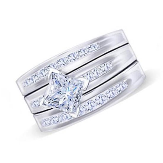 bague diamant princesse 2 carats