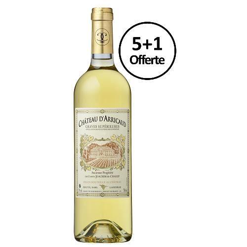Graves Supérieures 2012 du Château d'Arricaud - lot de 6 bouteilles de 75cl - 5+1 offerte - Graves Supérieures - Bordeaux
