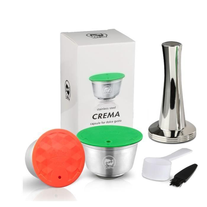 Icafilas – capsules réutilisables en métal inoxydable pour Dolce Gusto, adaptées au nescafé, avec filtre utilisé 200 [CB7EBF5]