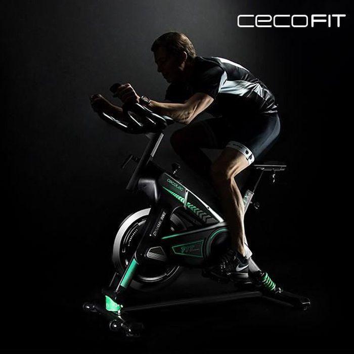 Vélo d'appartement professionnel avec écran LCD - Cardio Fitness Piable Silencieux avec Écran LCD et la Fréquence Cardiaque