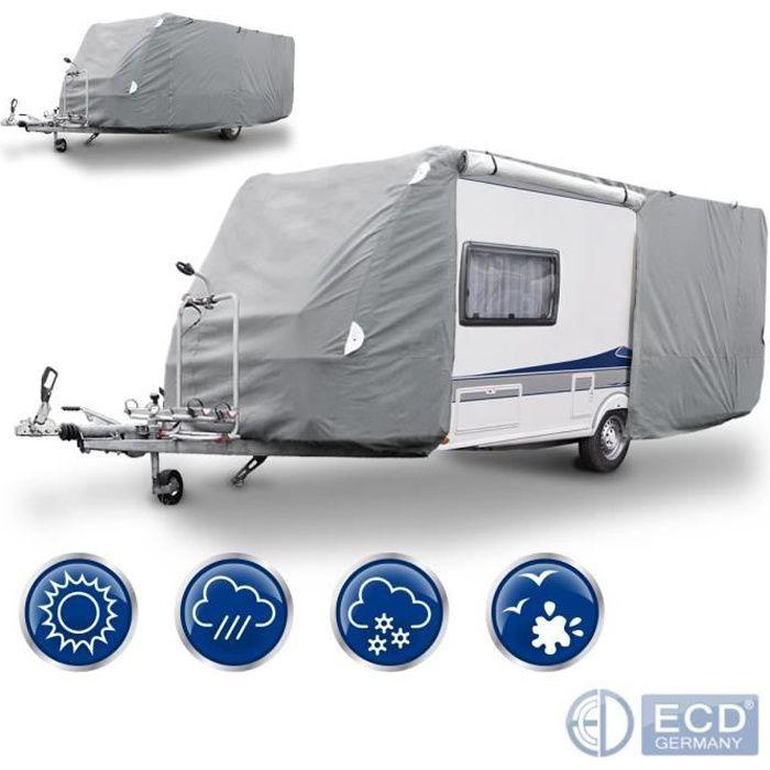 Housse de protection caravane M 520 x 225 x 220 cm bâche imperméable respirant