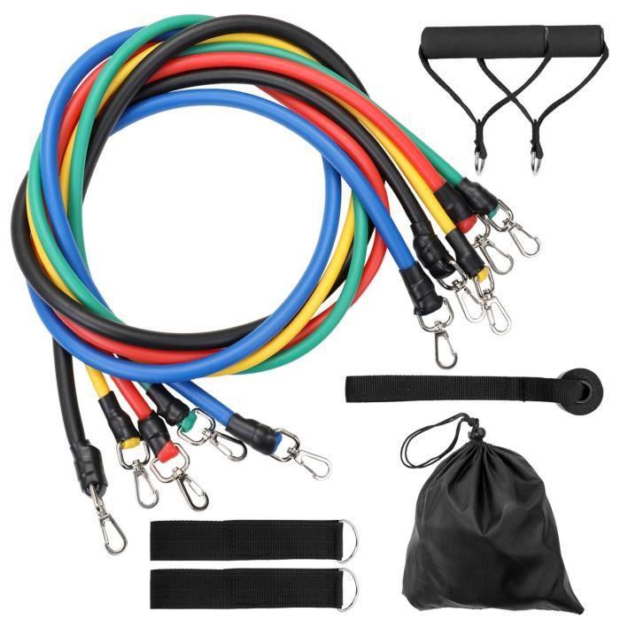 11 pièces ensemble tirer corde Latex Fitness exercices bandes de résistance exercices élastiques corps Fitness e - 11 PCS - KOBM2724