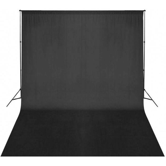 Toile de Fond Pro Studio Photo 100% Pure Mousseline Pliable Pour Éclairage Photo Studio - 2 X 1m (Noir)