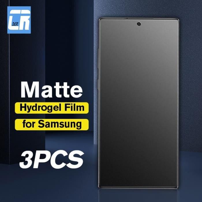 Samsung S8 2Piece 1 3 pièces sans empreinte digitale mat Hydrogel Film pour Samsung Galaxy Note 10 9 8 S20 S10 S9 S8 Plus S21 Ultr