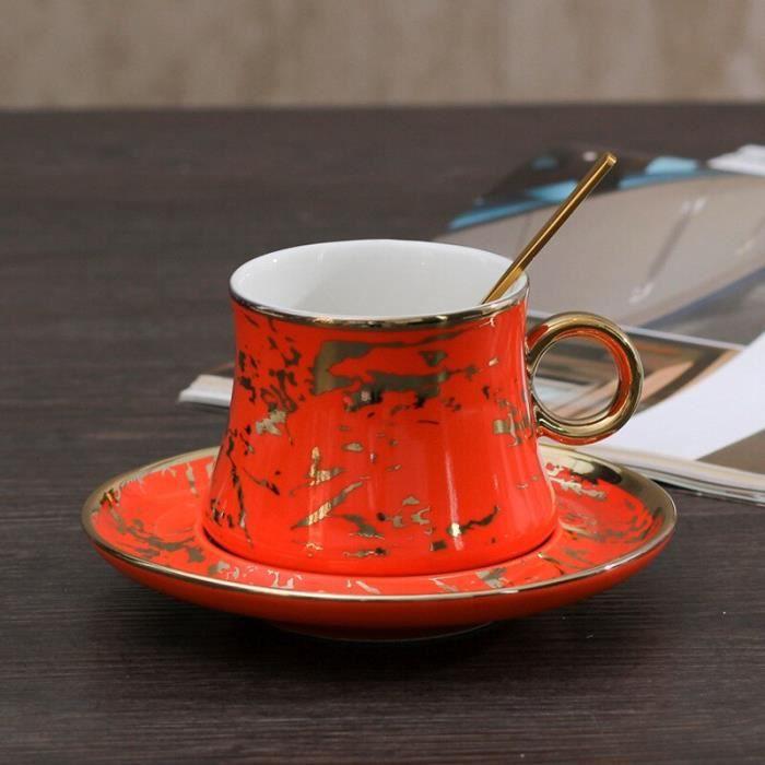 Service à café avec soucoupes,Vert Royal céramique tasse à café et soucoupe ensemble moderne solide mode luxe créatif - Type 6