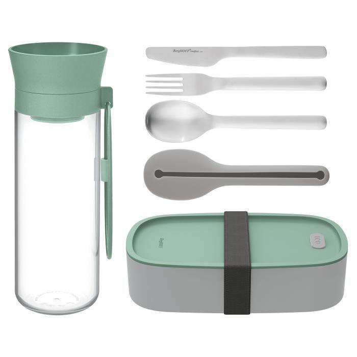Set a Déjeuner - Couverts Camping et carafe d'eau - Acier Inoxydable - Sans BPA - BergHOFF LEO