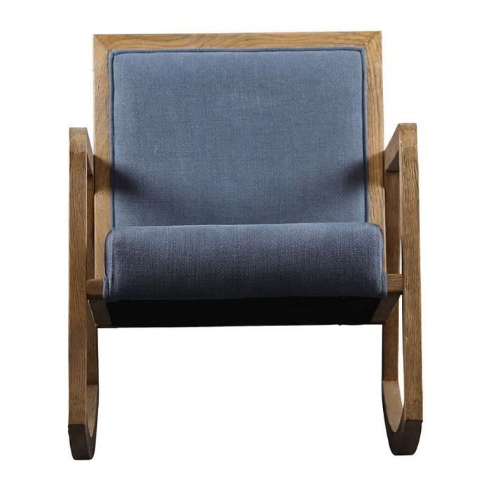 Rocking chair Laureli bleu  58x85x71 cm