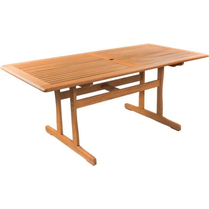 Table de jardin -Osaka- - 180 x 90 cm - Bois naturel