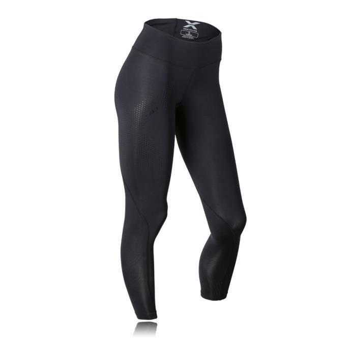 2Xu Femmes Noir Mid Rise Collants De Course Compression Running Sport Leggings